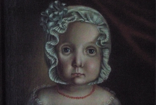 Protrait of a Small Child (detail). American ca. 1800